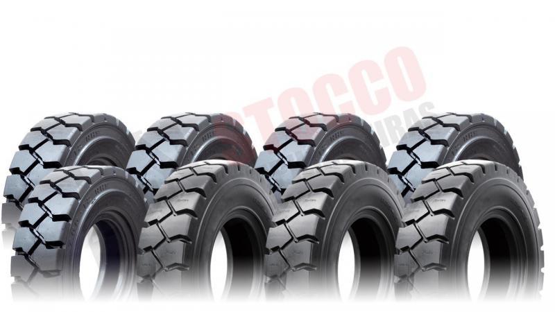 Rodas e pneus para empilhadeiras